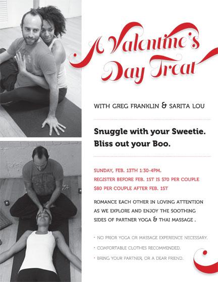 Valentines Thai Massage And Partner Yoga Workshop With